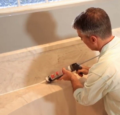 How To Caulk And Seal A Bathroom Landing Page